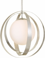 Crystorama 6467-SA Arlo Contemporary Antique Silver 16  Pendant Light