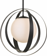 Crystorama 6469-MK Arlo Modern Matte Black 21  Lighting Pendant