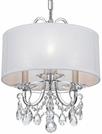 Crystorama 6623-CH-CL-SAQ Othello Polished Chrome Clear Spectra Drum Ceiling Light Pendant