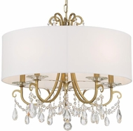 Crystorama 6625-VG-CL-MWP Othello Vibrant Gold Chandelier Light