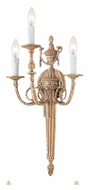Crystorama 663-MB Arlington 3 Candle Matte Brass 20 Inch Tall Antique Wall Sconce Lighting