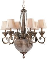 Crystorama 6726 Collage 28 inch 6-lite chandelier in Weathered Patina