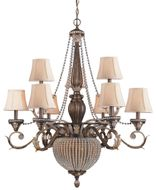 Crystorama 6729 Collage 36 inch 11-lite chandelier in Weathered Patina