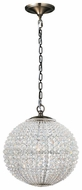 Crystorama 6754AB Newbury Large Brass Crystal Pendant Lamp
