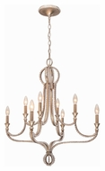 Crystorama 6768-DT Garland Distressed Twilight Finish 28 Inch Diameter 8 Light Candle Chandelier