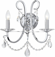 Crystorama 6822-CH-CL-MWP Othello Polished Chrome Clear Hand Cut Lamp Sconce