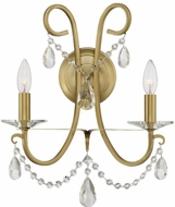Crystorama 6822-VG-CL-SAQ Othello Vibrant Gold Candle Wall Light Sconce