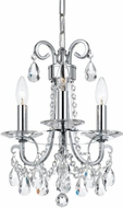 Crystorama 6823-CH-CL-S Othello Polished Chrome Mini Chandelier Light