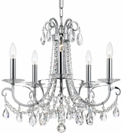 Crystorama 6825-CH-CL-S Othello Polished Chrome Mini Chandelier Lighting
