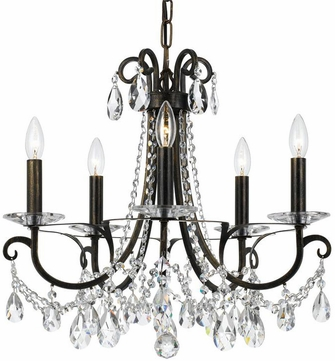 Crystorama 6825-EB-CL-MWP Othello English Bronze Clear Hand Cut Chandelier Light