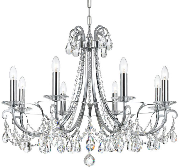 Crystorama 6828 Ch Cl Saq Oto Polished Chrome Clear Spectra Lighting Chandelier
