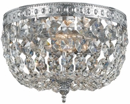 Crystorama 708-CH-CL-SAQ Ceiling Mount Polished Chrome 8 Home Ceiling Lighting