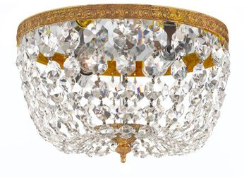 Crystorama 708-OB-CL-MWP Ceiling Mount Olde Brass 8 Ceiling Light Fixture