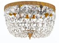 Crystorama 708-OB-CL-SAQ Ceiling Mount Olde Brass 8 Ceiling Light Fixture