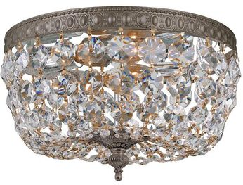 Crystorama 710-EB-CL-S Ceiling Mount English Bronze 10 Flush Ceiling Light Fixture