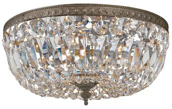 Crystorama 712-EB-CL-MWP Ceiling Mount English Bronze 12 Ceiling Light Fixture