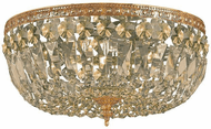Crystorama 712-OB-GT-MWP Ceiling Mount Olde Brass 12  Flush Mount Lighting
