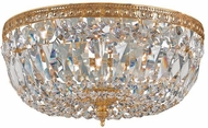 Crystorama 714-OB-CL-SAQ Ceiling Mount Olde Brass 14 Ceiling Lighting Fixture