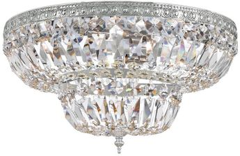 Crystorama 718-CH-CL-S Ceiling Mount Polished Chrome 18 Flush Mount Ceiling Light Fixture