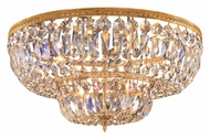 Crystorama 736-OB-CL-MWP Richmond 36 Inch Diameter Flush Mount Olde Brass Crystal Overhead Lighting