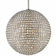 Crystorama 7805-DT Genesis Distressed Twilight Square Faceted Jewels Pendant Lamp