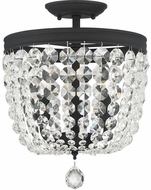 Crystorama 783-BF-CL-MWP Archer Black Forged Overhead Lighting Fixture