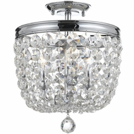 Crystorama 783-CH-CL-MWP Archer Polished Chrome Clear Hand Cut Flush Lighting