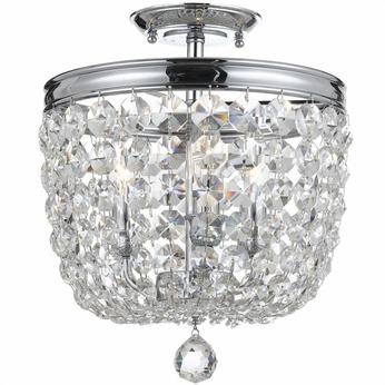 Crystorama 783-CH-CL-SAQ Archer Polished Chrome Clear Spectra Overhead Lighting