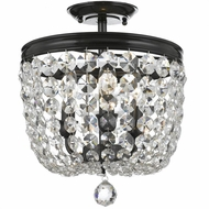 Crystorama 783-VZ-CL-SAQ Archer Vibrant Bronze Clear Spectra Flush Ceiling Light Fixture