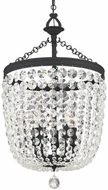 Crystorama 785-BF-CL-S Archer Black Forged Mini Lighting Chandelier