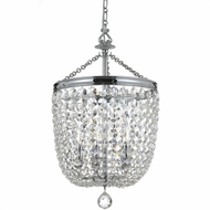 Crystorama 785-CH-CL-MWP Archer Polished Chrome Clear Hand Cut Foyer Light Fixture
