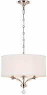 Crystorama 8005-PN Mirage Polished Nickel Drum Pendant Lighting Fixture