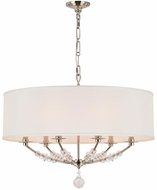 Crystorama 8006-PN Mirage Polished Nickel Drum Hanging Pendant Lighting