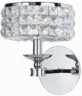 Crystorama 801-CH-CL-MWP Chelsea Polished Chrome Wall Sconce Lighting