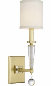 Crystorama 8101-AG Paxton Aged Brass Wall Lighting Sconce