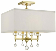 Crystorama 8105-AG-CEILING Paxton Aged Brass Ceiling Light Fixture