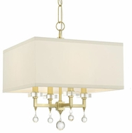 Crystorama 8105-AG Paxton Aged Brass Mini Ceiling Chandelier