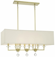 Crystorama 8109-AG Paxton Aged Brass Island Light Fixture