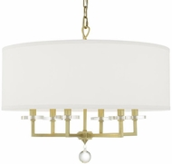 Crystorama 8116-AG Paxton Aged Brass Hanging Chandelier