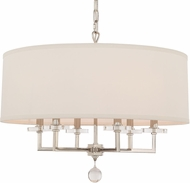 Crystorama 8116-PN Paxton Polished Nickel Drum Hanging Lamp
