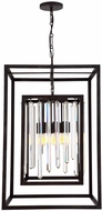 Crystorama 8409-FB Hollis Forged Bronze Foyer Light Fixture