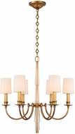 Crystorama 8706-AG Lawson Aged Brass Chandelier Light