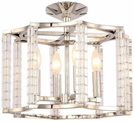 Crystorama 8854-PN-CEILING Carson Polished Nickel Home Ceiling Lighting