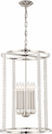 Crystorama 8859-PN Carson Polished Nickel Foyer Lighting Fixture