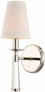 Crystorama 8861-PN Baxter Polished Nickel Wall Lighting Sconce