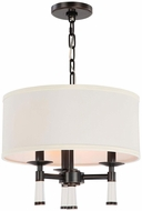 Crystorama 8863-OR Baxter Oil Rubbed Bronze Drum Drop Lighting