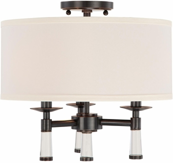 Crystorama 8863-OR-CEILING Baxter Oil Rubbed Bronze Overhead Light Fixture