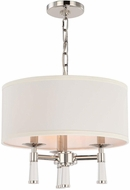Crystorama 8863-PN Baxter Polished Nickel Drum Drop Ceiling Lighting
