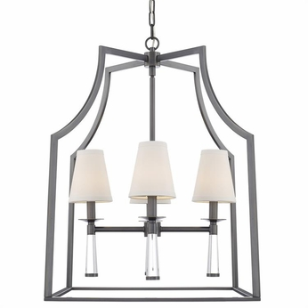 Crystorama 8864-OR Baxter Modern Oil Rubbed Bronze Entryway Light Fixture