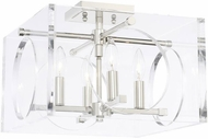 Crystorama 8870-PN Drake Modern Polished Nickel Flush Mount Ceiling Light Fixture